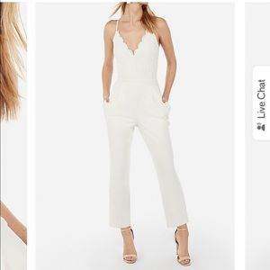 White lace jumpsuit -Express NEW WITH TAGS !
